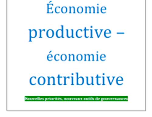 Economie productive – économie contributive